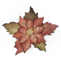 658261 Sizzix Bigz Die - Tattered Poinsettia by Tim Holtz